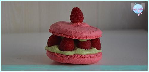 Macarons Framboises-Pistaches