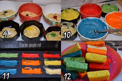 Comment faire un gateau en couleur