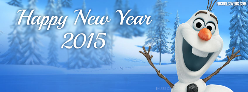 olaf-wishing-happy-new-year-2015-facebook-cover