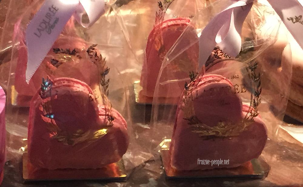 A l'occasion de la Saint Valentin La Durée nous propose des macarons en forme de cœur au Gingembre.