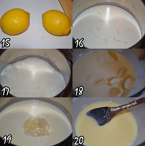 Etape ganache au citron