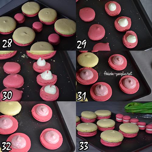 Etapes montage religieuse en macaron