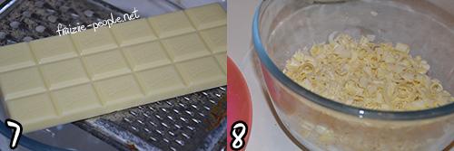 Etape du merveilleux au chocolat blanc