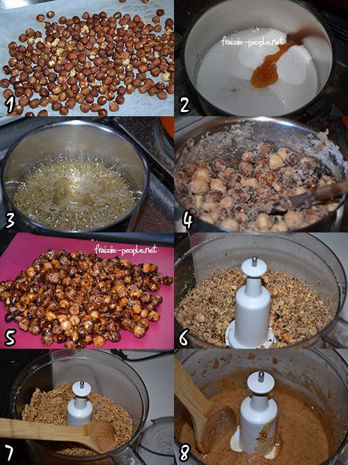 Etape praliné  chocolats de Pâques au praliné fait maison