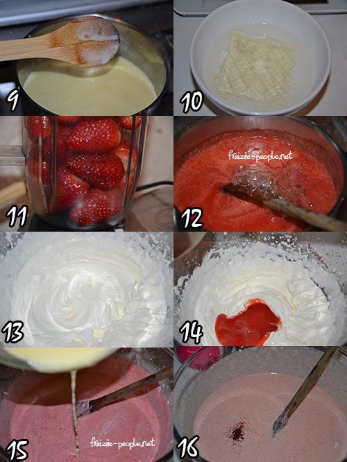 Etapes Charlotte aux fraises