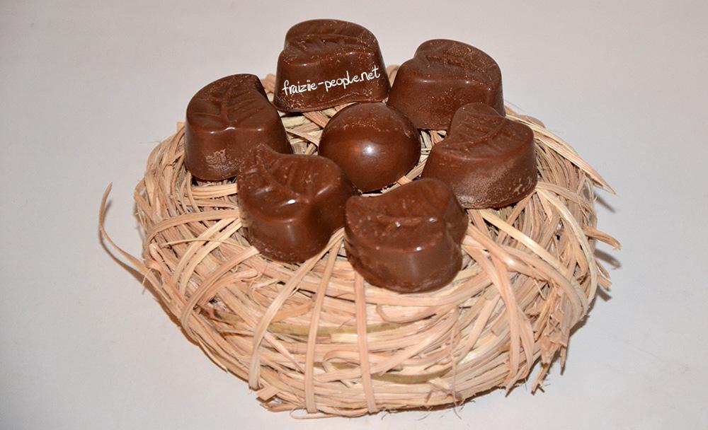 Chocolats de Pâques au praliné fait maison