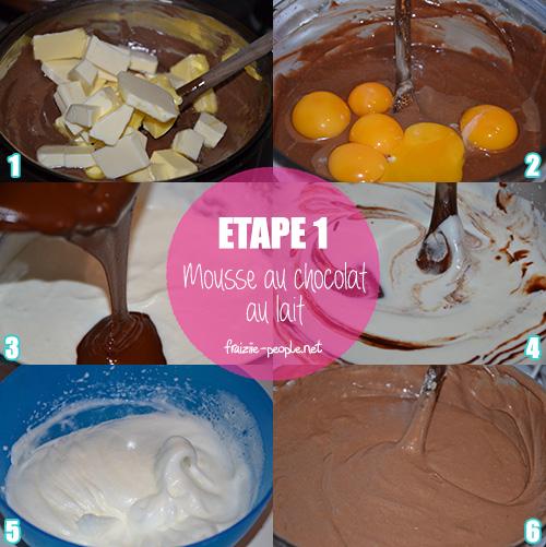Etape 1 Mousse aux deux chocolats