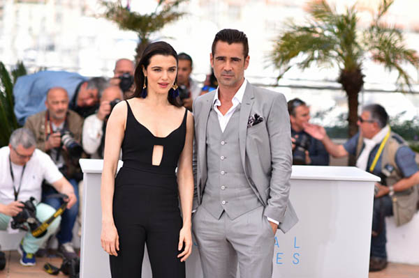 Colin Farrell et Rachel Weisz au photocall de The Lobster