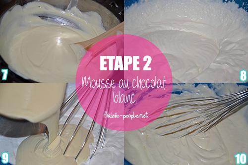 Etape 2 Mousse aux deux chocolats