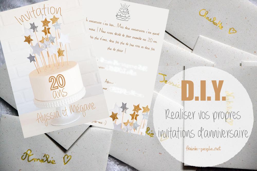 DIY vos propres invitations d'anniversaire