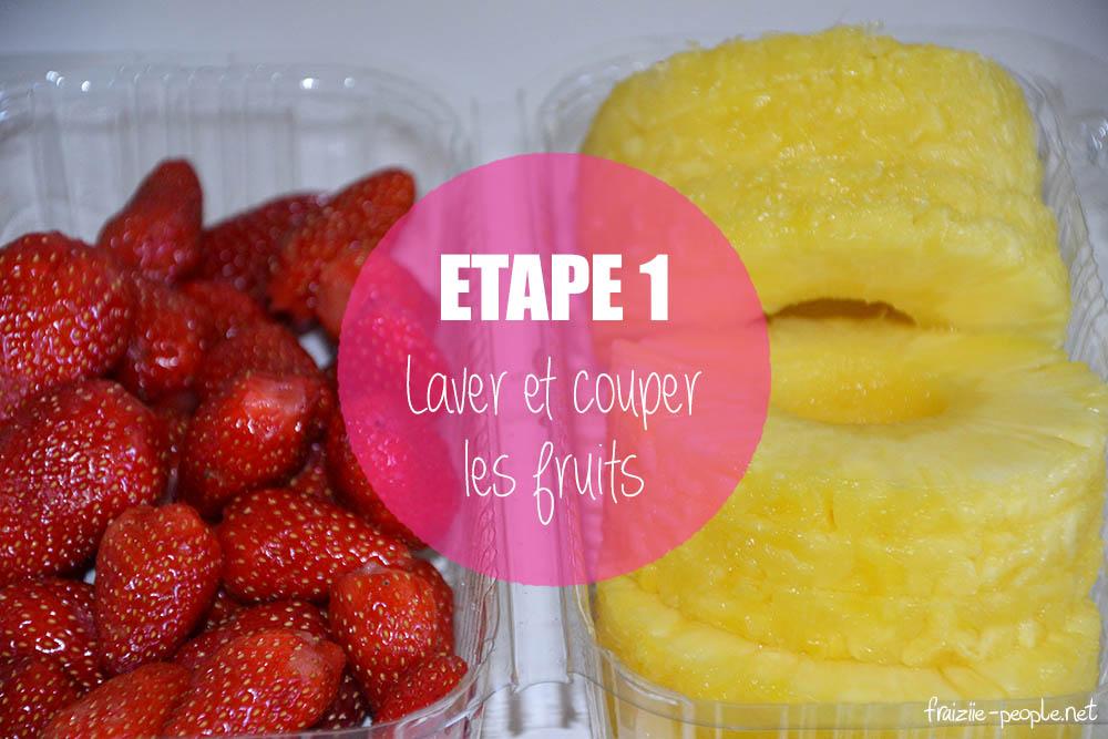 Etape 1 : Smoothie ananas fraises