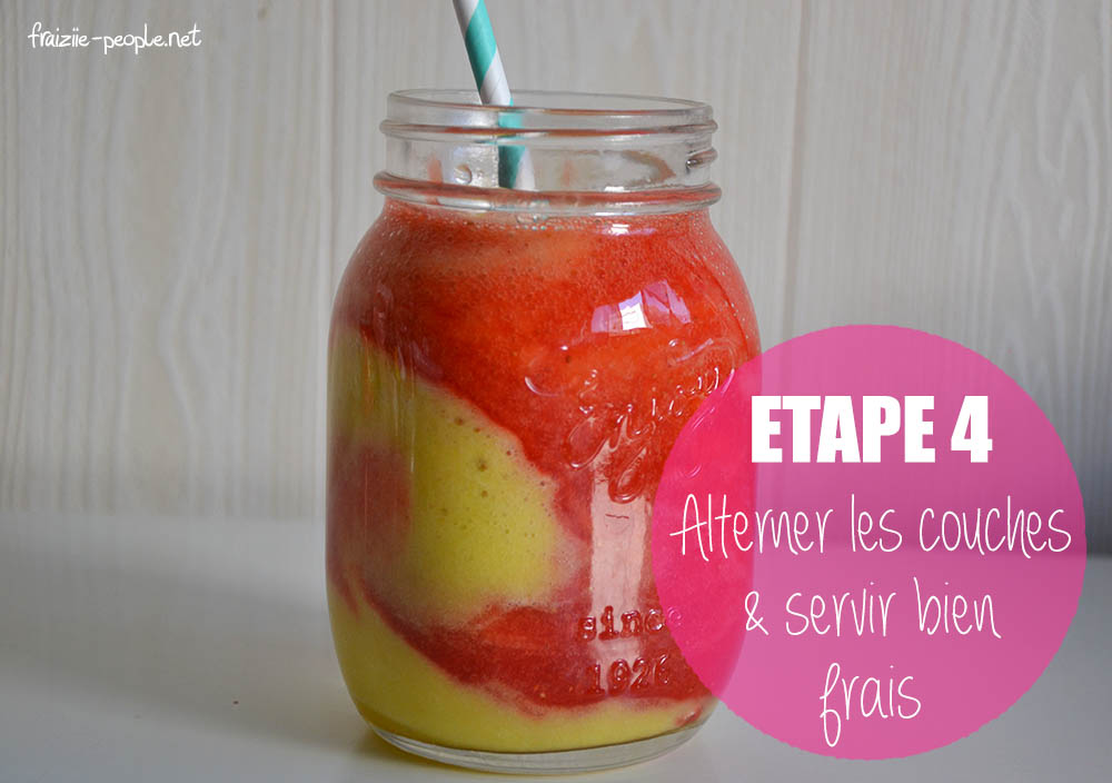 Etape 4 : Smoothie ananas fraises
