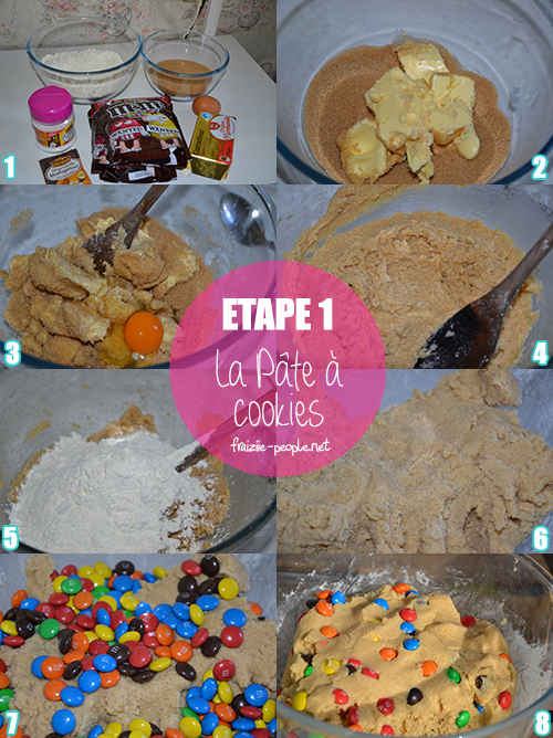 Etape 1 Cookies M&M's
