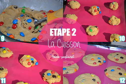 Etape 2 Cookies M&M's