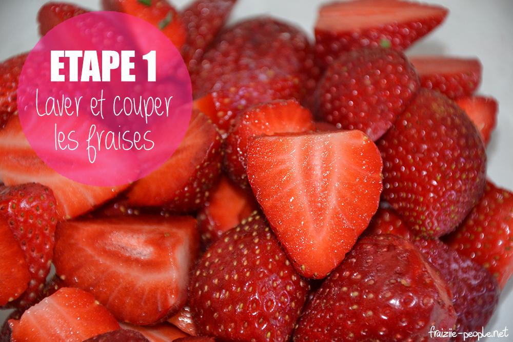 Etape 1 : Milkshakes gourmands à la fraise