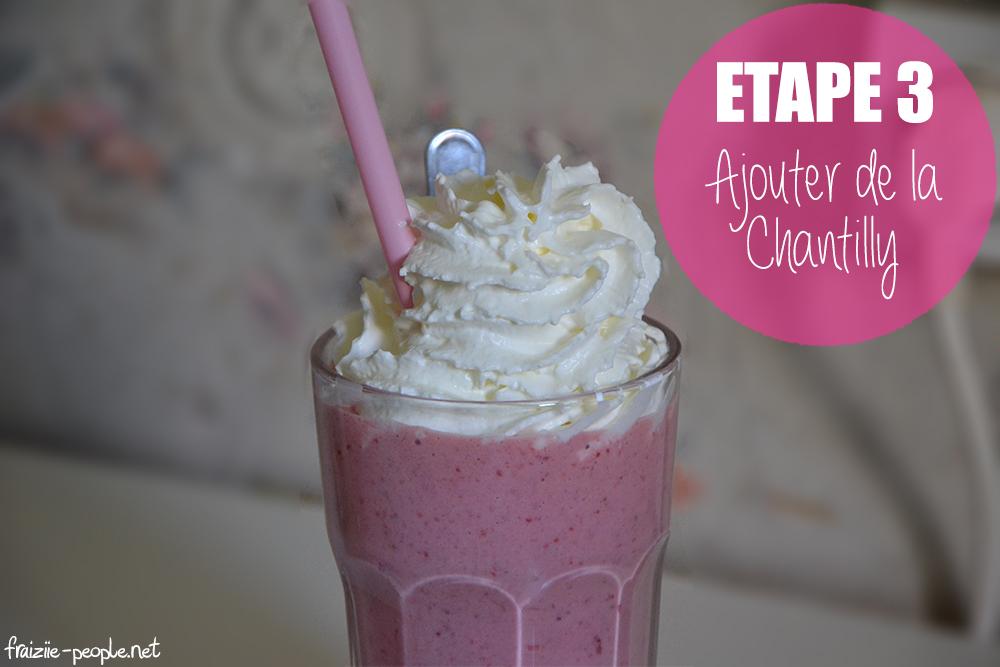 Etape 3 : Milkshakes gourmands à la fraise