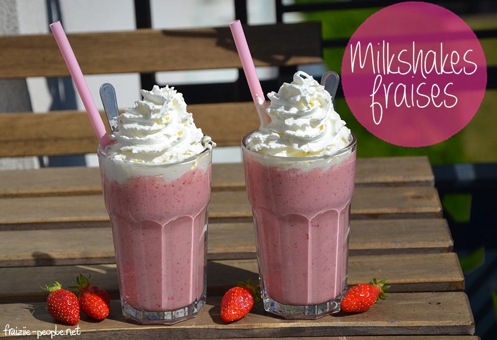 milkshakes gourmands à la fraise