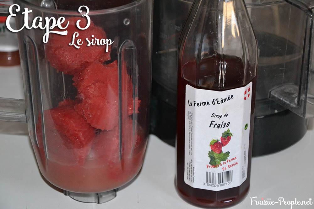 Etape 3 : Smoothie glacé