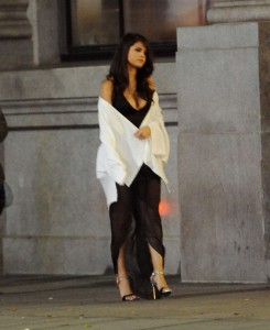 Selena Gomez sur le set de son vlip Same Old Love