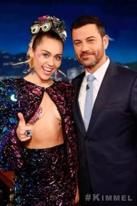 Miley Cyrus et Jimmy Kimmel