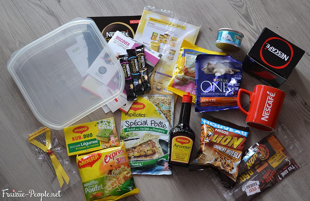 Le sac pleins de produits Nestlé
