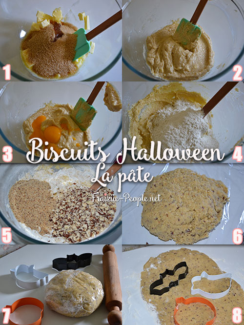 Etape 1 Biscuits Halloween à la noisette