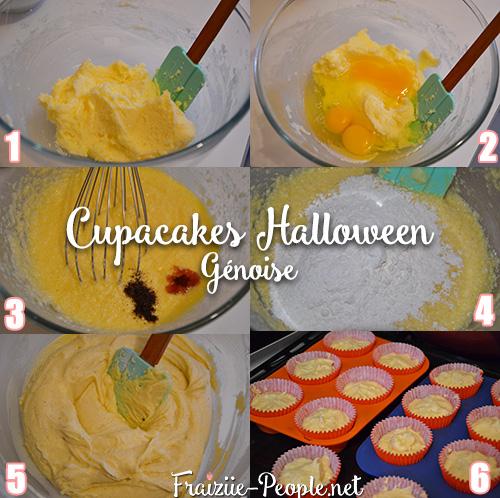 Etape 1 Cupcakes Halloween
