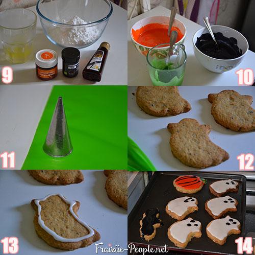 Etape 2 Biscuits Halloween à la noisette