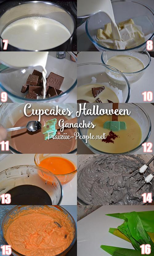 Etape 2 cupcakes halloween