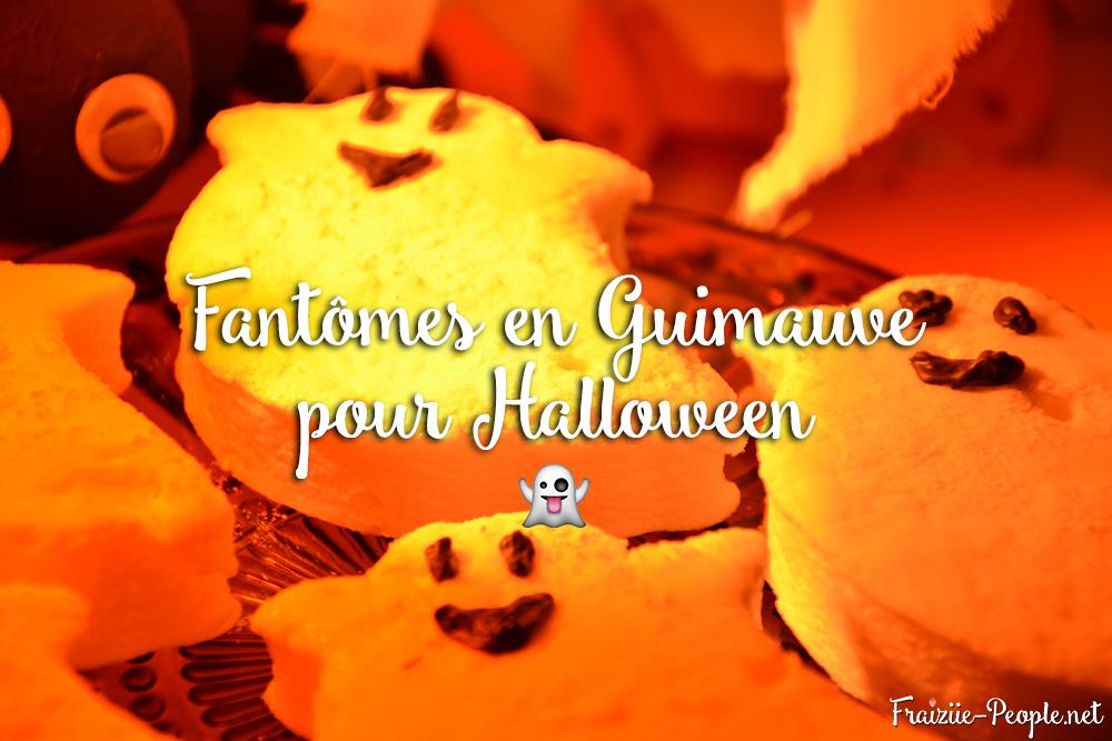 Fantômes en guimauve pour Halloween