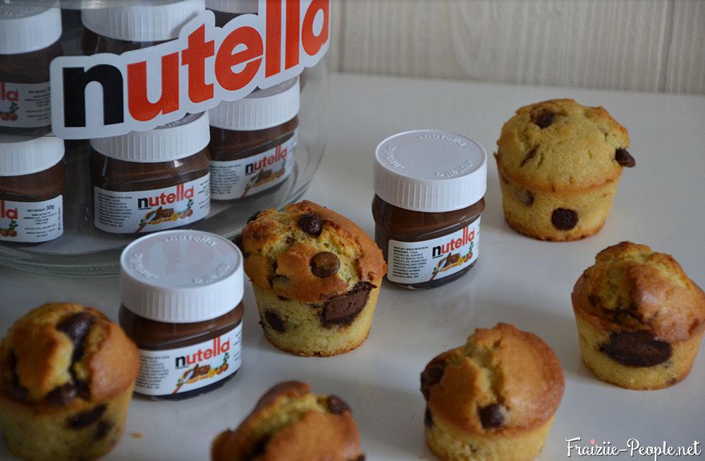 Muffins coeur nutella 3
