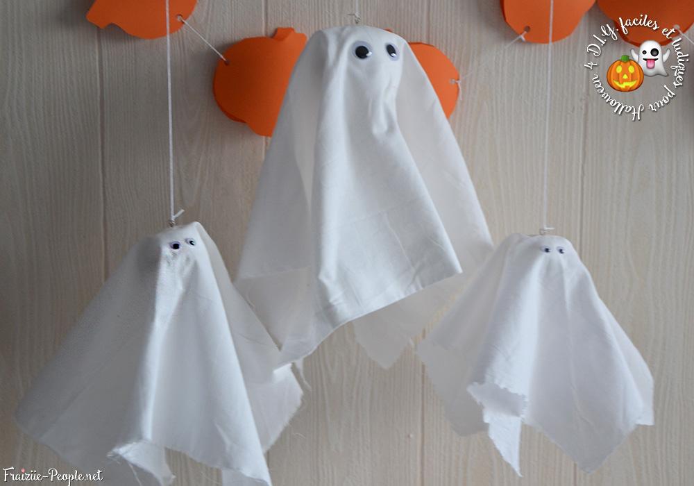 les fantômes, Quatre idées déco faciles et ludiques pour Halloween