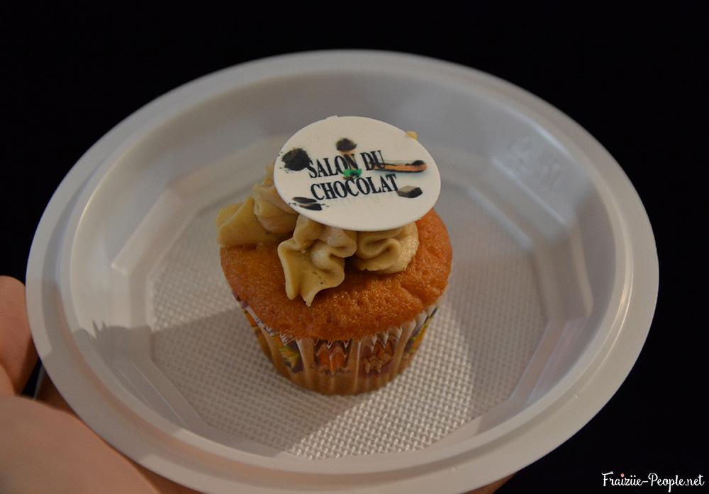 Cupcake au praliné réalisé par Elodie.
