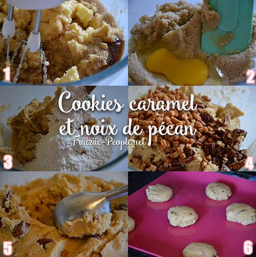 Etapes, cookies caramel et noix de pécan