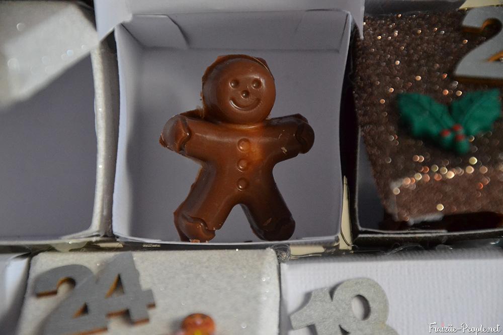 calendrier de l'avent en sapin de Noël chocolat au lait