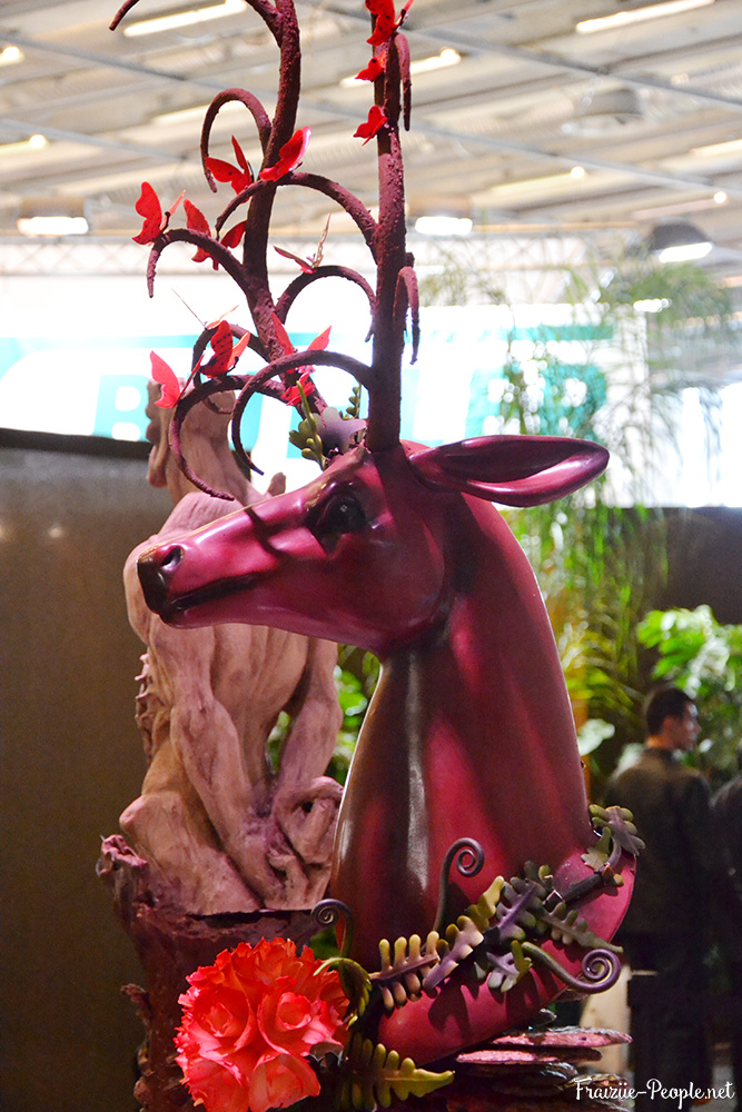 Cerf en chocolat pour les World Chocolate Master