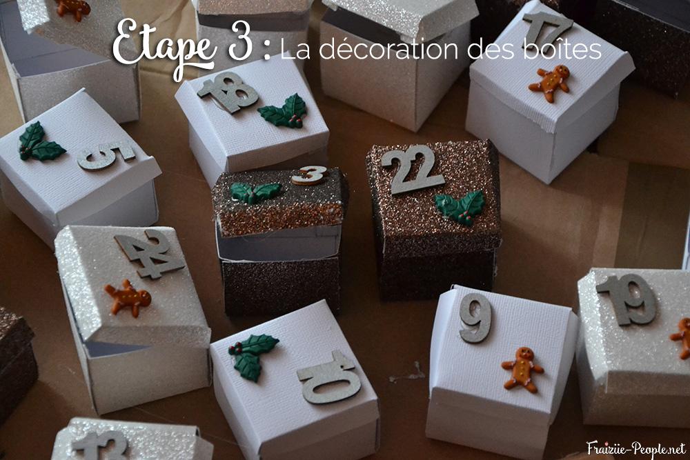 etape 3 calendrier de l'avent en sapin de Noël