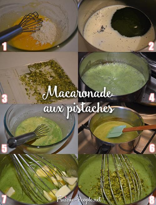 Etape 1 Macaronade aux pistaches