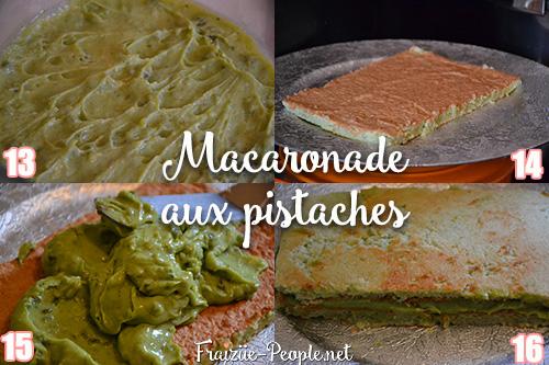 Etape 3 Macaronade aux pistaches