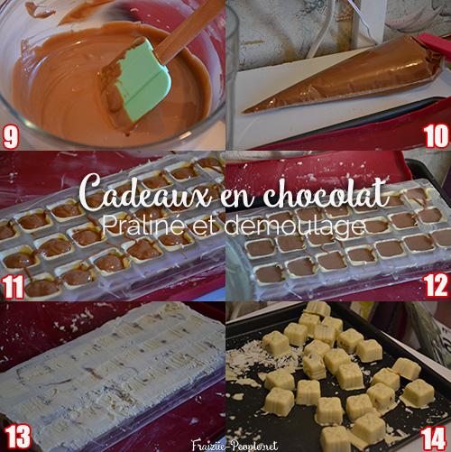 étape 3 cadeaux Quatre recettes de chocolats de Noël
