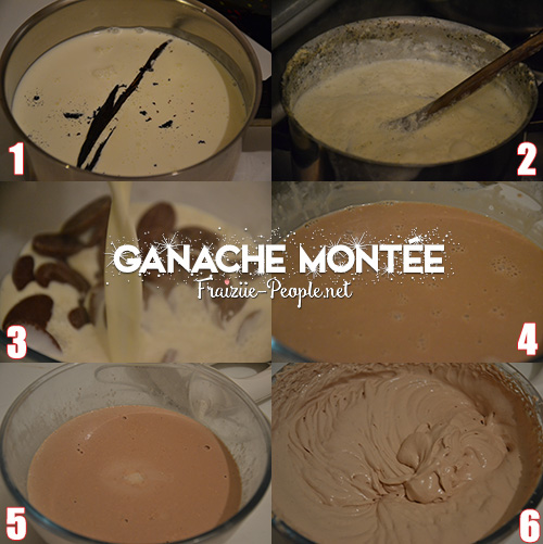 etape 1 ma bûche de Noël chocolat caramel