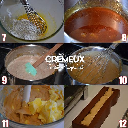 etape 2 ma bûche de Noël chocolat caramel