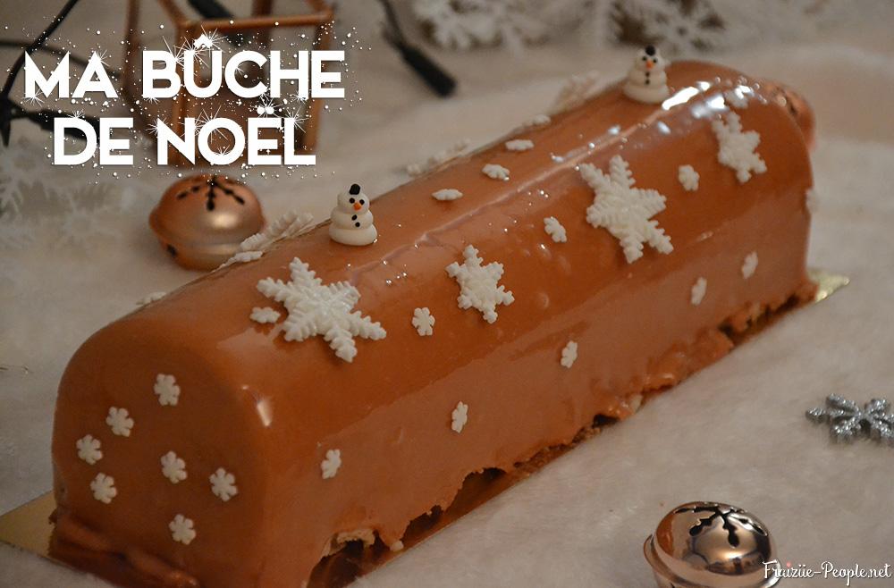ma bûche de Noël chocolat caramel