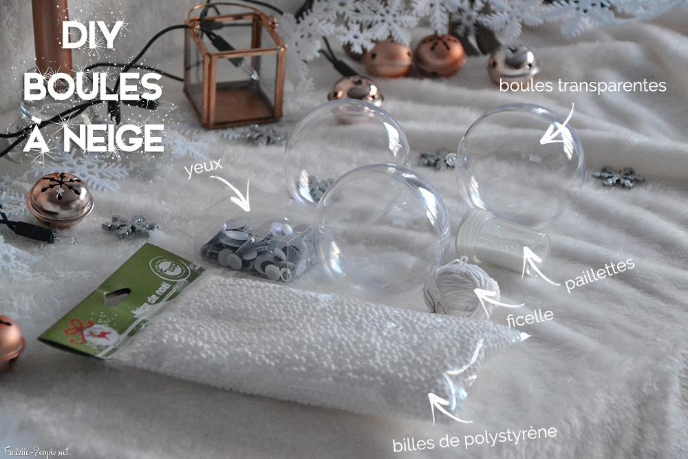 matériel boule à neige