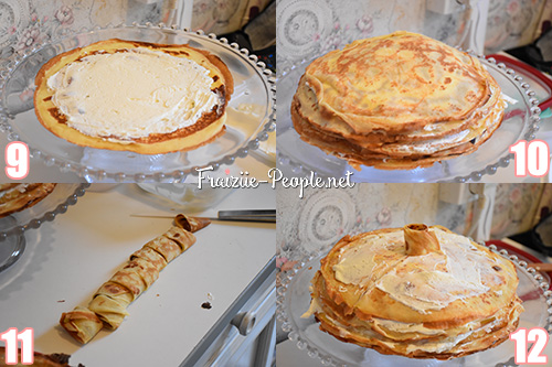 Etape 3 Gâteau de crêpes