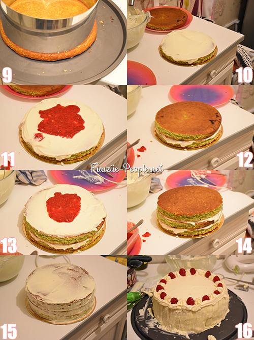 Etape 4 gâteau d'anniversaire