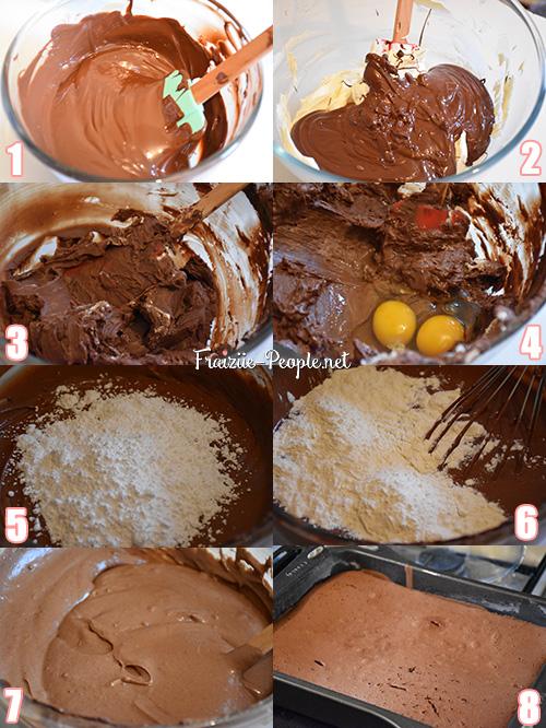 etapes fondant au chocolat