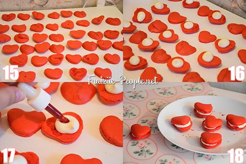 Etape 3 macarons en coeur