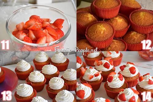 Etape3 : Cupcakes façon fraises Chantilly