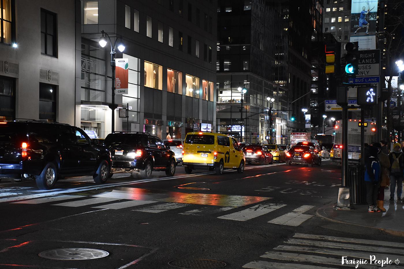 On ne peut pas venir à New York sans croiser les célèbres taxis jaunes !